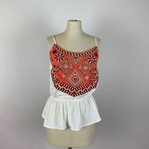 Abercrombie & Fitch Embroidered Tank Top